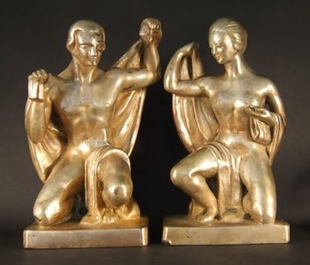 Photo of American Moderne bookends