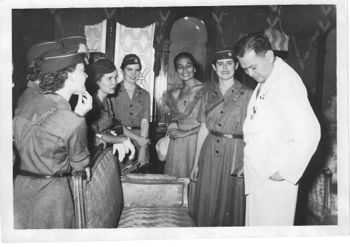 Photo of USA Girl Scouts with Ramon Magsaysay. GSP Photo Lab Service Manila