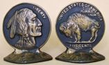 "Photo of ""Buffalo Nickel"" Bookends"
