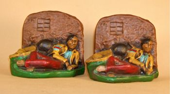 Photo of Chalkware Mexican Peon Bookends