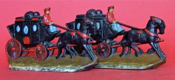 Photo of Painted Iron Stagecoach Bookends