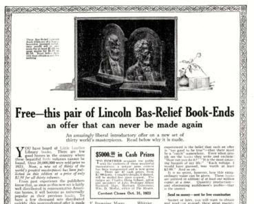 Advertisement for Little Leather Library