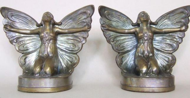 """Butterfly Girl"" Bookends"