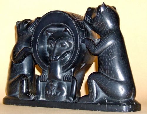 Photo of Bear Mother Argillite Carving