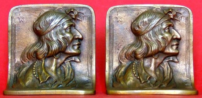 Photo of Bronze Indian Bookends