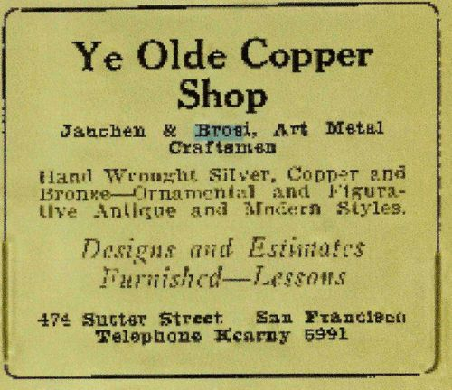 Photo of Ye Olde Copper Shop advertisement