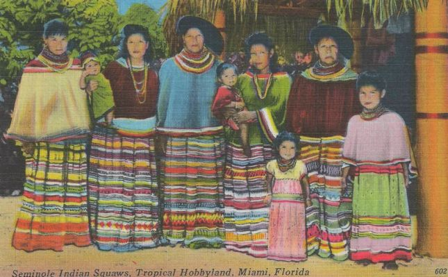 Photo of Postcard showing Seminole Indian Women