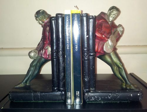 Photo of Faust and Mephistopheles Bookends