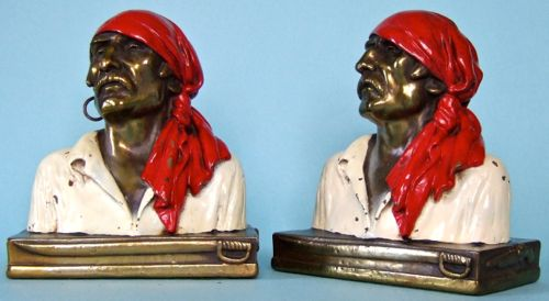 Photo of Pirate Bust Bookends
