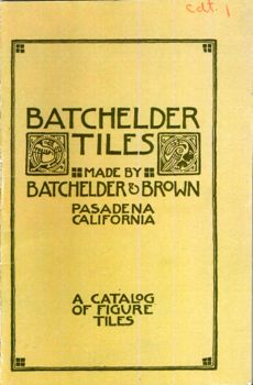Cover of reproduction of 1912 Batchelder Tiles Catalog