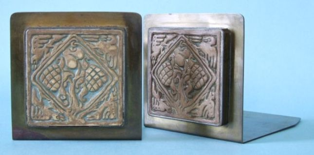 Photo of Potter Studio Bookends with Batchelder Tile
