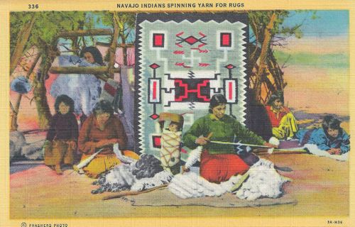 Photo of Navajo Weaver Postcard