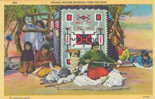 Photo of Navajo Weaver Postcard
