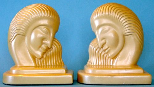 Chalkware, Height: 6.5 inches. Inscription: D-1935. American Moderne, circa 1935.