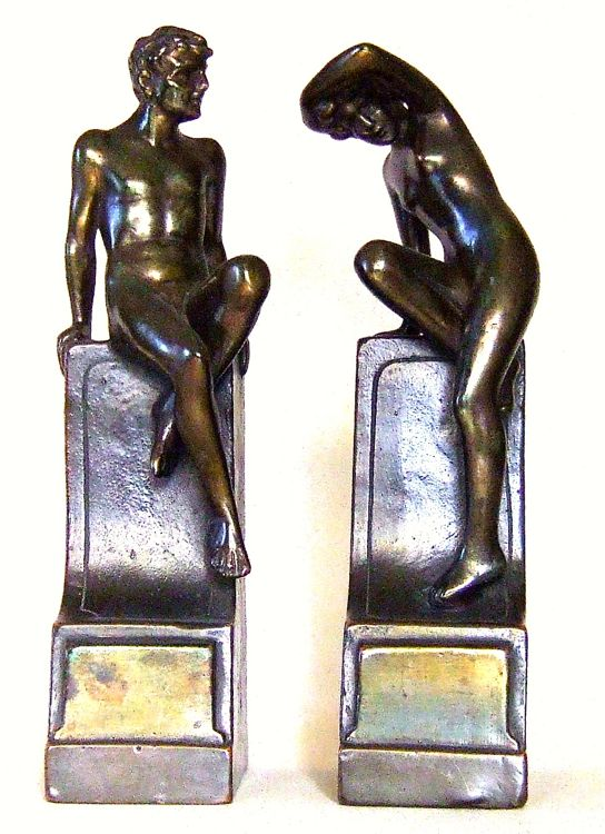Photo of Galvano Bronze Classical Art Bookends