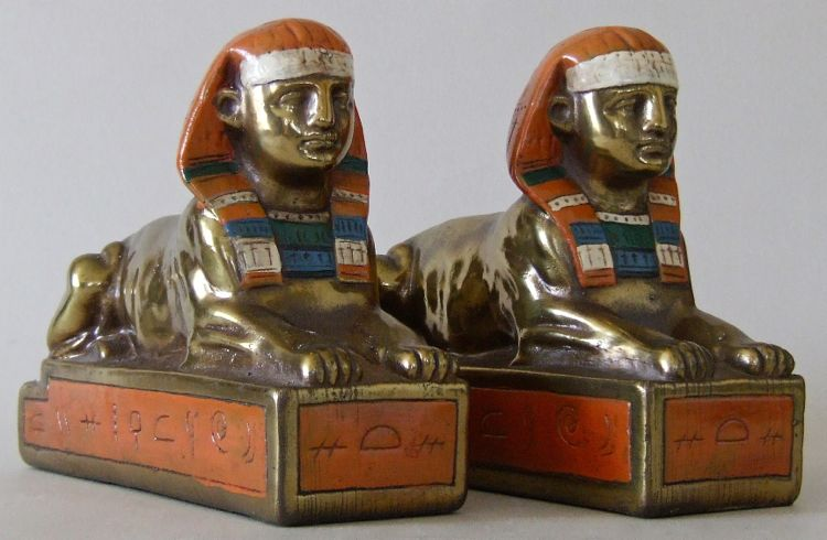Egyptian Revival Bookends The Bookend Collector