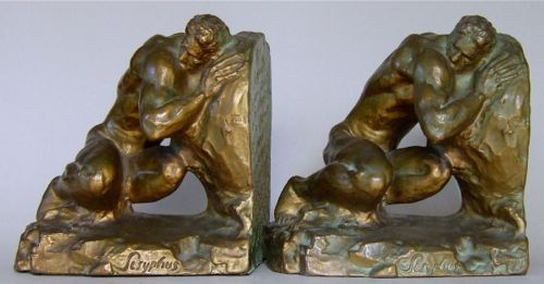 Photo of Sisyphus Bookends by McClelland Barclay