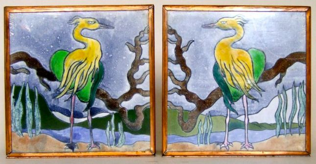 Photo of Painted Tile Bookends
