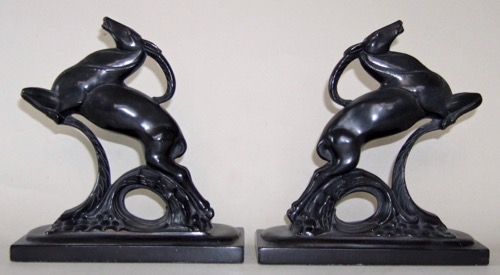 Photo of Leaping Gazelle Bookends