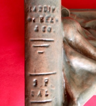 Photo of Book Spine with inscription