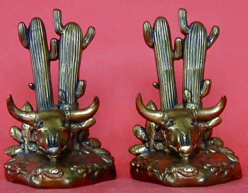 Desert Scene: Bronze deposited on gray metal, Height 6 inches, Shopmark: J.B. 1357. circa 1930.