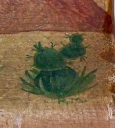 Artist signature M.M below a type of Opuntia Cactus