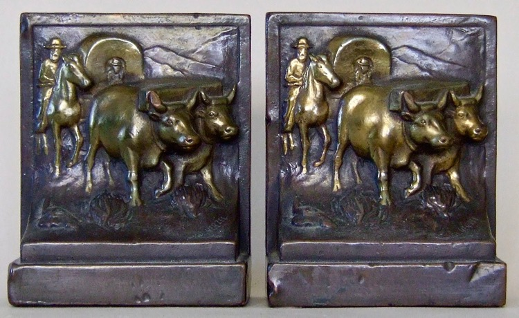 Photo of Covered Wagon bookends