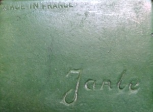 """Impressed """"Janle"""" inscription and """"Made In France""""."""
