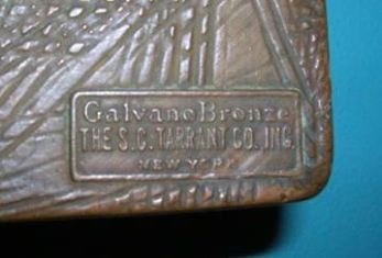 Galvano Bronze / S.C. Tarrant makers mark