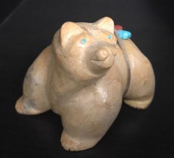 Loveable Bear carved by Freddie Leekya. Purchased in 2011.