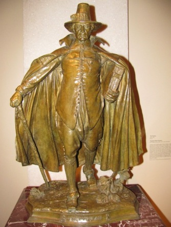 The Puritan. Bronze. Height 31 inches. American Art Museum, Smithsonian.